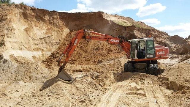 Ziemia i kruszywa Sur POl - własna kopalnia piasku iżwiru, wybierz żwir i piasek z centralnej Polski, Rzgów łódzkie.